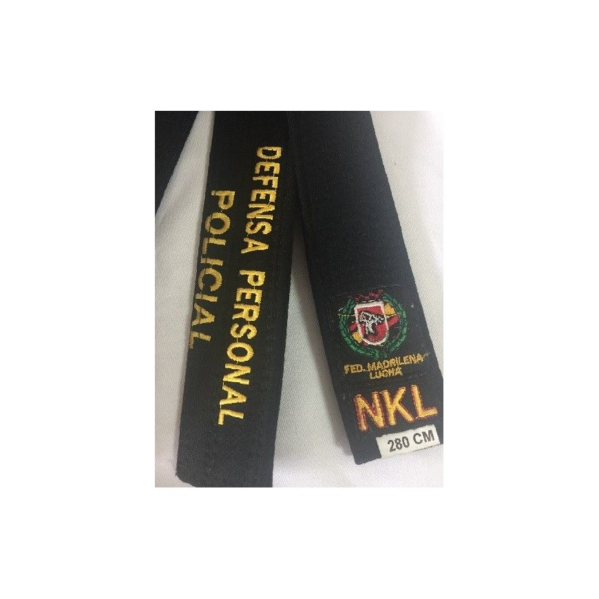 CINTURON NKL NEGRO DEFENSA PERSONAL POLICIAL