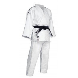 "Judogi Adidas ""Champion II New"" Slimfit Blanco ""IJF 2018"" (Bandas Negras)"