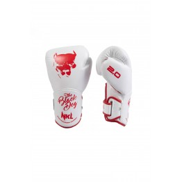 "GUANTE BOXEO NKL  ""BLACK DOG 2.0"" BLANCO /ROJO"