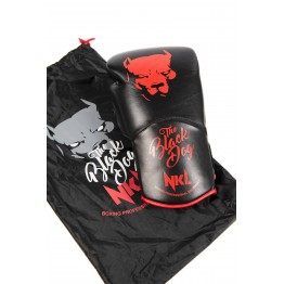 "GUANTE BOXEO NKL  ""BLACK DOG 2.0"" NEGRO / ROJO"